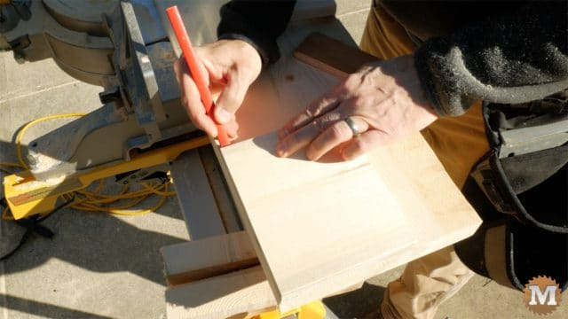MAN about TOOLS - firewood cutting jig - layout side locations on base
