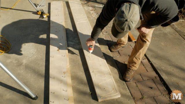 firewood cutting jig - glue together base