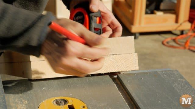 trim firewood cutting jig base