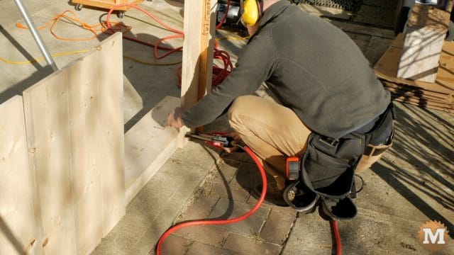 cutting jig - secure sides with air compressor nailer