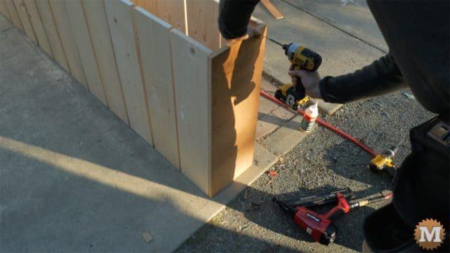 attach plywood end