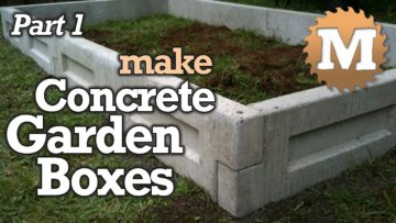 Make Concrete Garden Beds