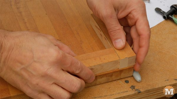 Make a One-Handed Cutting Board - position corner stops