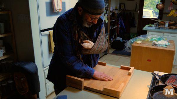 DIY One Handed Cutting Board
