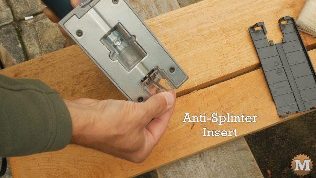 A small, clear, anti-splinter insert