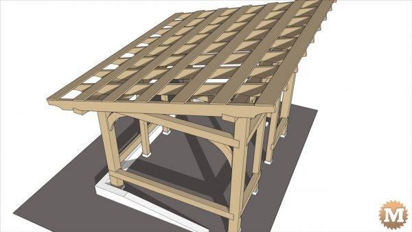 woodshed sketchup animation design plan
