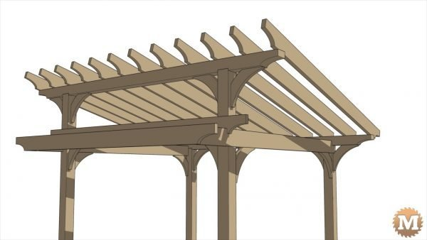 Timber Frame Pavilion - Main roof rafters are 2x8 nobel fir