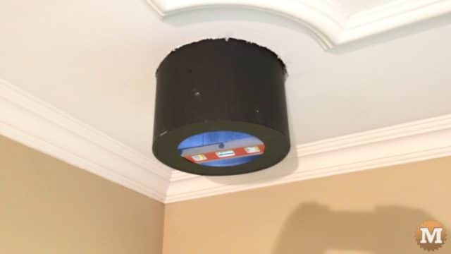 """Section of chimney, the """"top hat"""""""