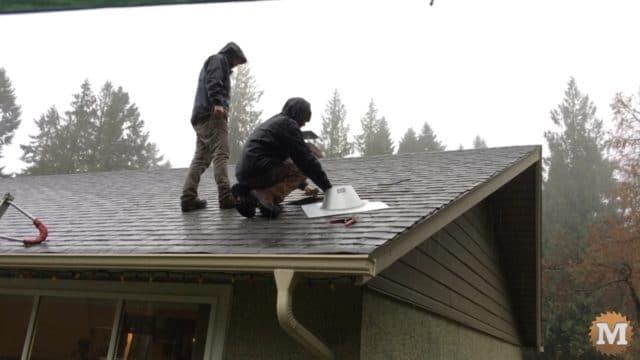 Add Chimney Flashing on roof