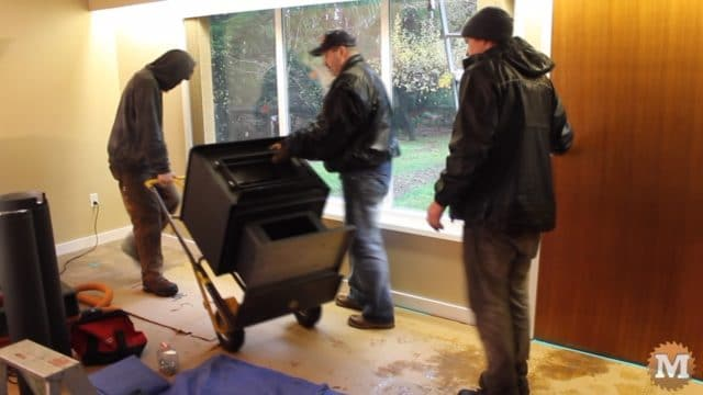 Ash Vacuum Review - New wood stove on dolly