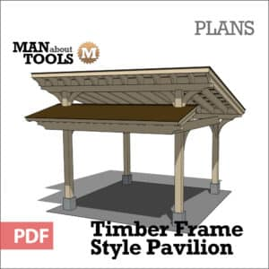 Timber Frame Pavilion woo1 - digital pdf plan