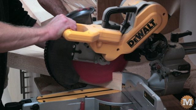 cutting the curved corner braces