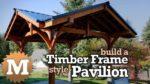 YouTube Thumbnail Three Gable Timber Frame style Pavilion Pergola Gazebo