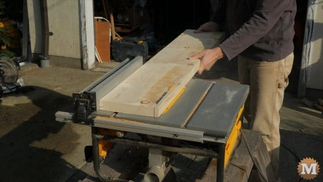 rip lumber on a cheap portable table saw