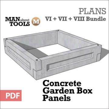 Concrete Garden Box Panels bundle all