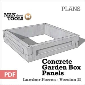 Concrete Garden Box Panels Digital PDF Plan - raised beds