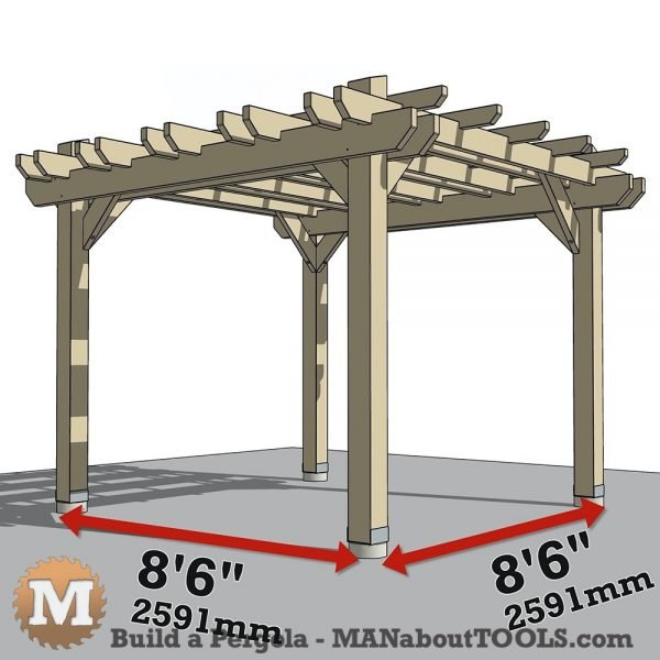 Animation to build a pergola step-by-step
