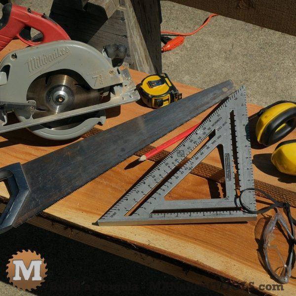Tools to build a pergola