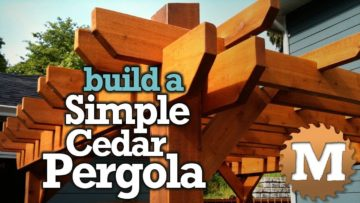 YouTube Thumbnail Build a Simple Cedar Pergola