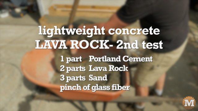 Lava Rock Concrete - 2nd Test