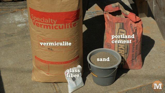 Ingredients for Vermiculite Lightweight Concrete Mix