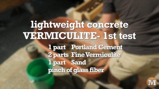 Vermiculite Lightweight Concrete recipe
