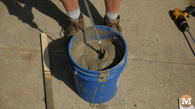 Foam and cement well blended