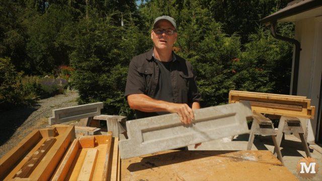 Super light aircrete garden box panels
