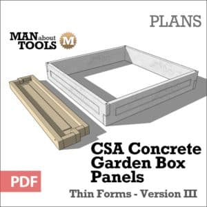 Concrete Panels Version III - raised garden beds