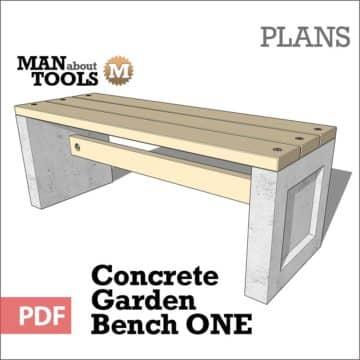 Concrete Bench One digital pdf plan