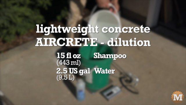 formula for the shampoo dilution I used