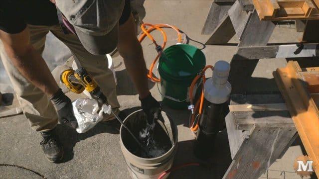 adding fibers to the concrete mix