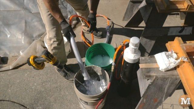foam in the pail