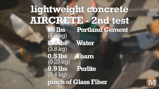 aircrete concrete lightweight recipe