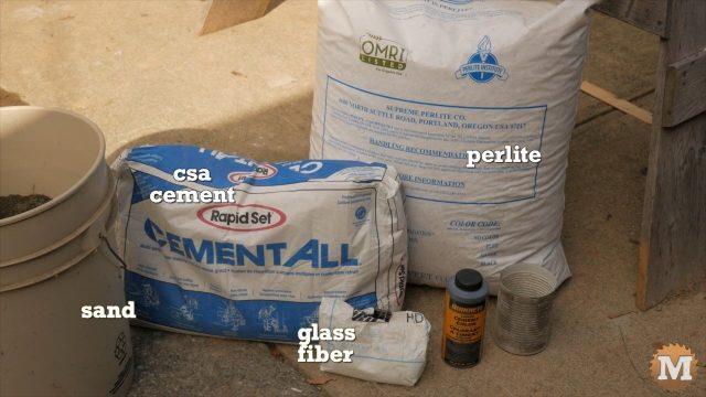 CSA version of the perlite concrete mix