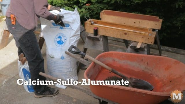 CSA concrete formula with perlite added