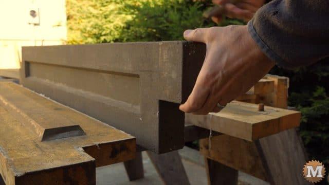 Finished cast Lightweight Perlite Concrete garden panel