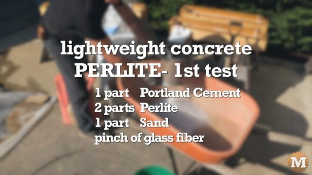 Ingredients I\'ll use to make Lightweight Perlite Concrete