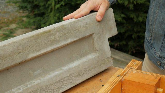 Closeup of aircrete panel