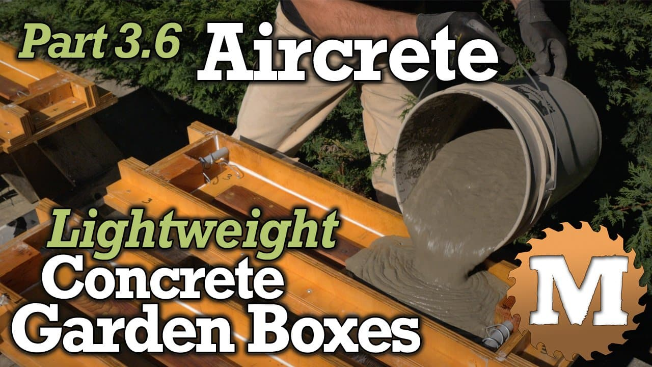 YouTube Thumbnail Aircrete Lightweight Concrete Garden Boxes - MAN about TOOLS