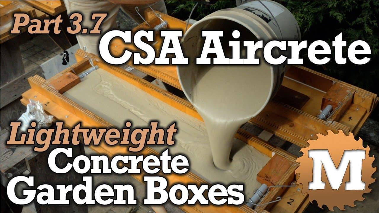 YouTube Thumbnail CSA Aircrete Lightweight Concrete Garden Boxes - MAN about TOOLS