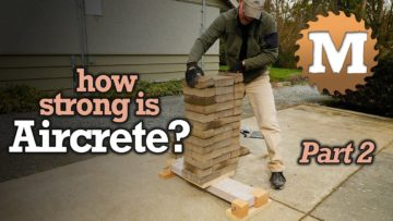 YouTube Thumbnail asking How Strong is Aircrete