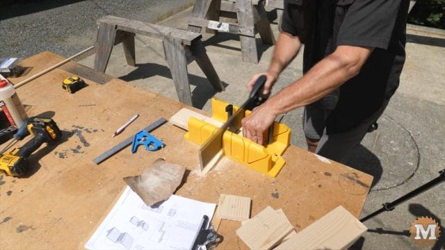 Cutting the sides and ends of the form with simple tools