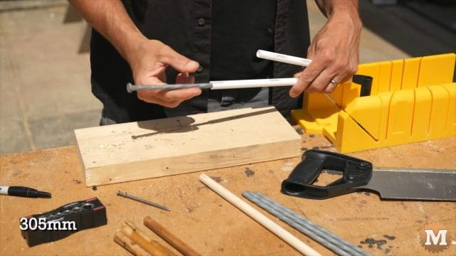 Do it yourself Concrete Garden Boxes - galvanized spike will stiffen pipe