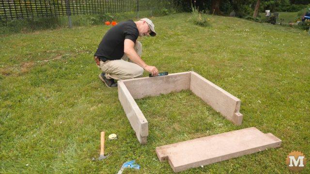 Assemble the panels into a garden box