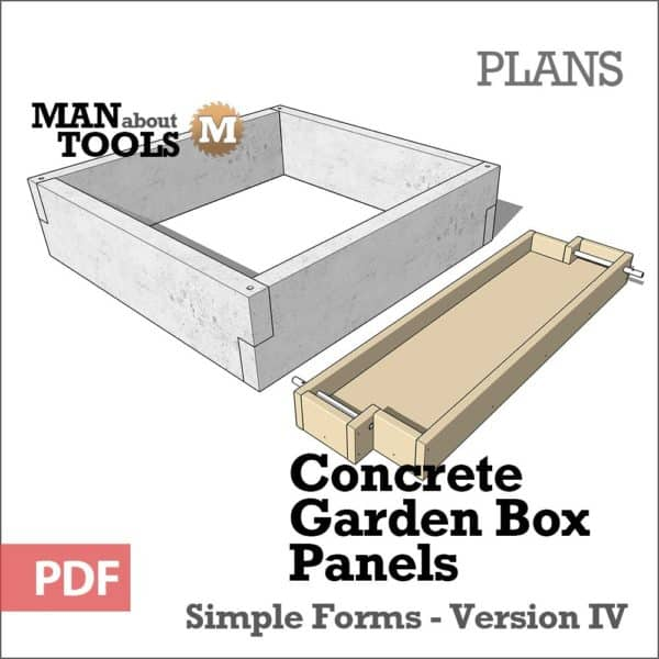 Concrete Garden Box Panels Digital PDF Plan - raised beds