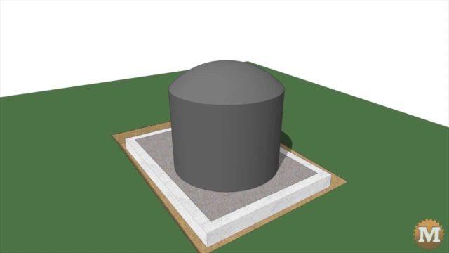 tank sitting on gravel base animation