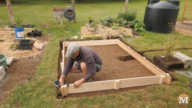 assembling the concrete forms
