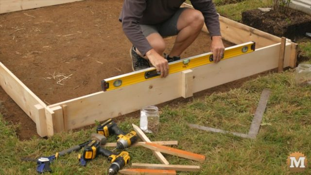 OFF GRID Rainwater Harvesting System - levelling forms for concrete