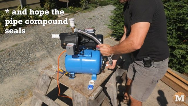 fixing a leak on the jet pump